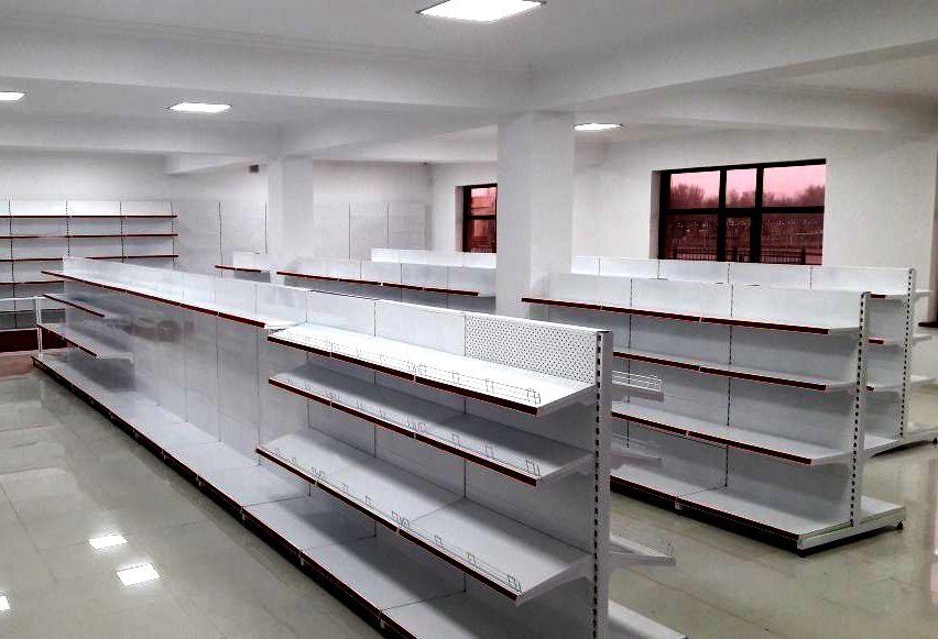 Торговые стеллажи в Актобе для магазинов и супермаркетов от производителя.