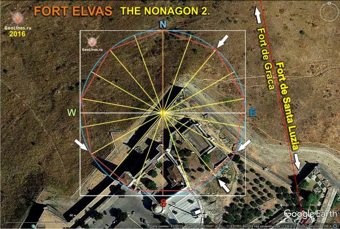 Форт Элваш  нонагон