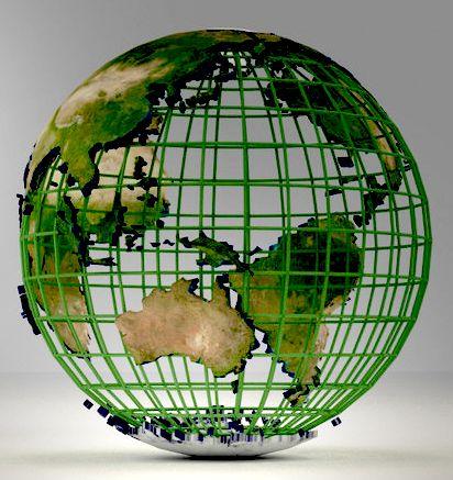 цифровой каркас Земли
