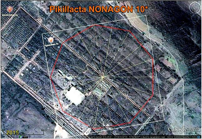 Ruins Pikillacta orientation nonagon