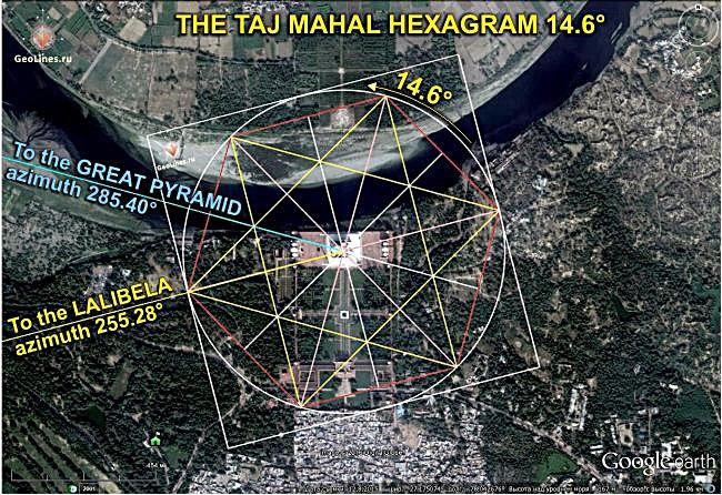 Тадж-Махал Великая пирамида в Гизе Лалибела гексаграммма