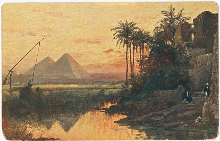 Гиза. Рисунок 1849 года.