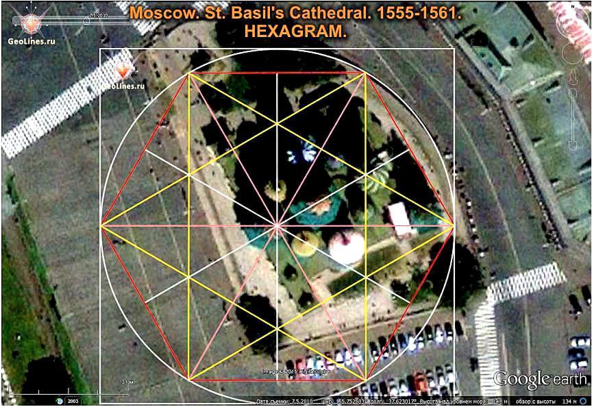 Собор Василия Блаженного гексаграмма