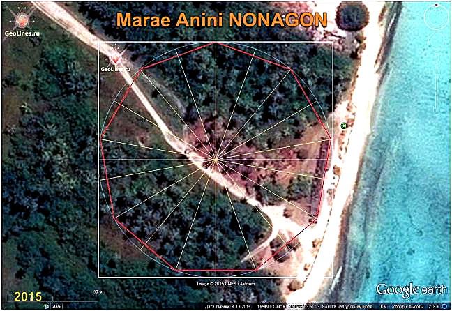 Marae Anini TAHITI orientation nonagon