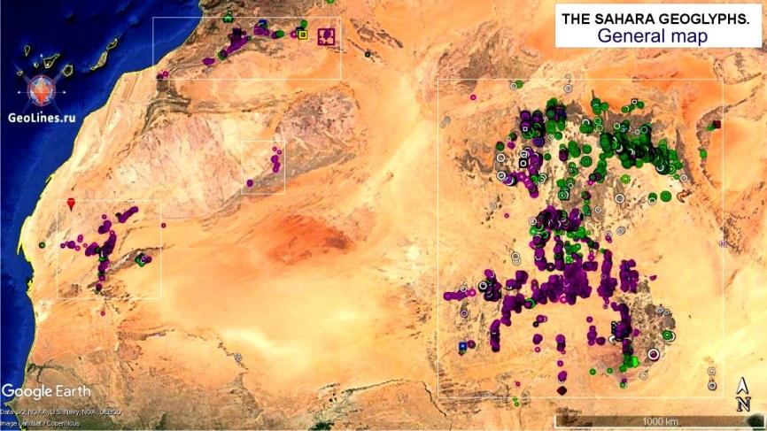геоглифы Сахары карта