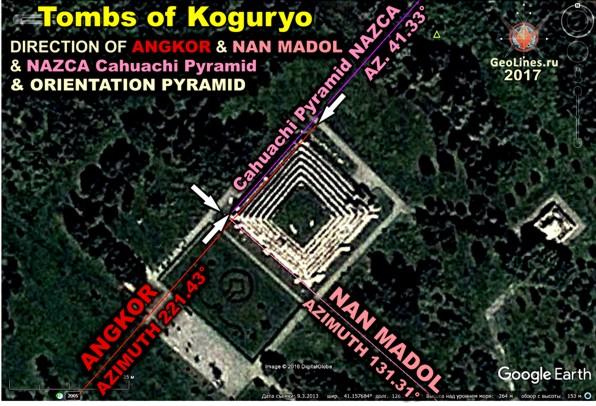 гробницы пирамиды когурьо в корее