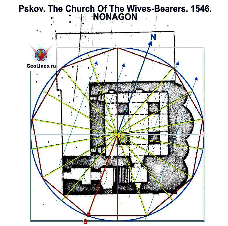 Мироносицкая церковь в Пскове нонагон
