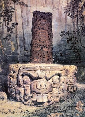 Лицо, смотрящее на нас с алтаря, на котором майя совершали жертвоприношения, производит пугающее впечатление.