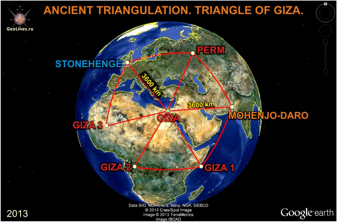 TRIANGULATION OF THE ANCIENT. Part 2. TRIANGLES of GIZA ...