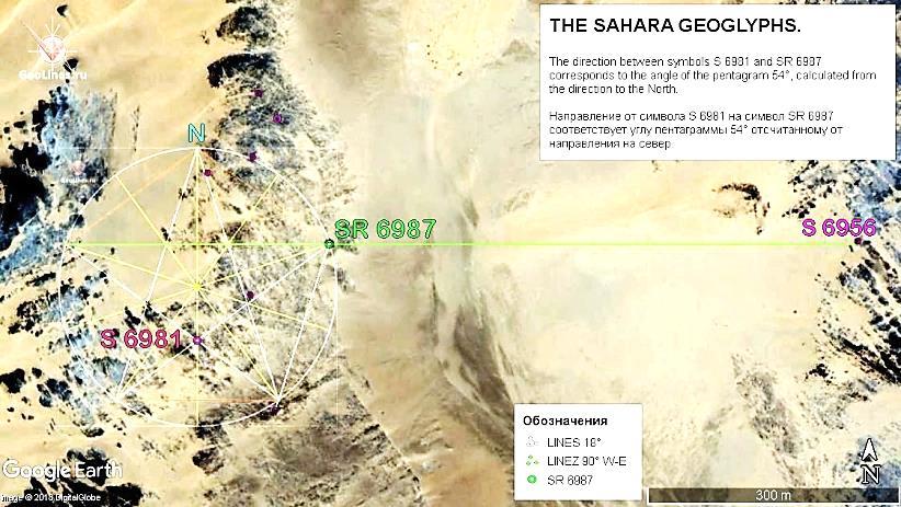 Направление S 6981 – SR 6987. Азимут 54° Направление SR 6987 – S 6956. Азимут 90°