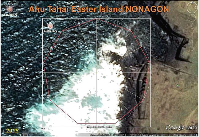Easter island platform, AHU Tahai orientation