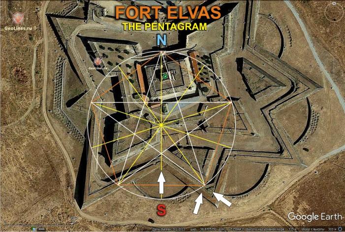 Форт Элваш пентаграмма