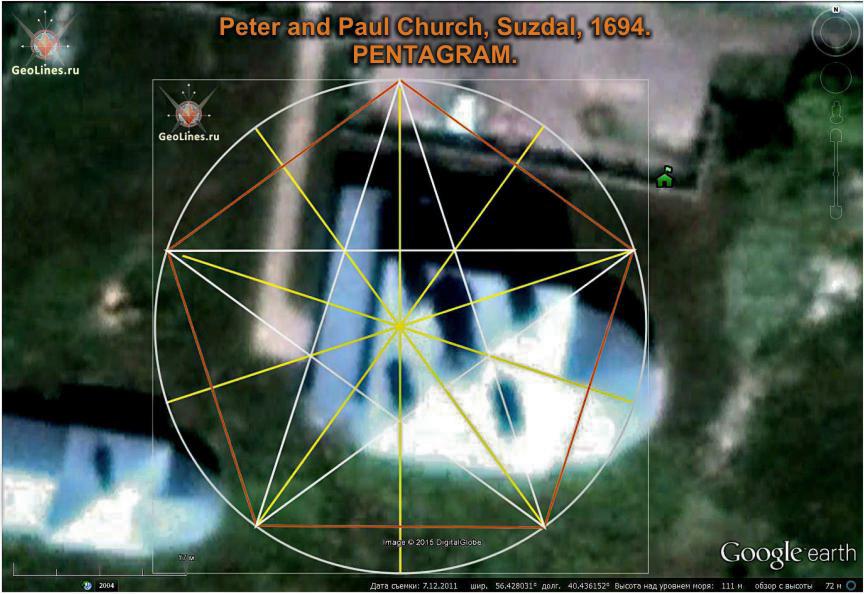 Церковь Петра и Павла в Суздале пентаграмма
