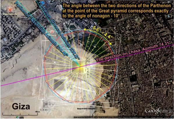 Великая пирамида Хеопса Парфенон