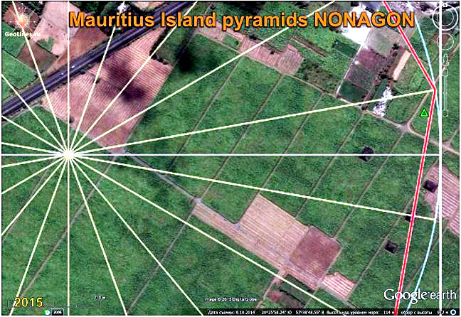The pyramids of MAURITIUS orientation