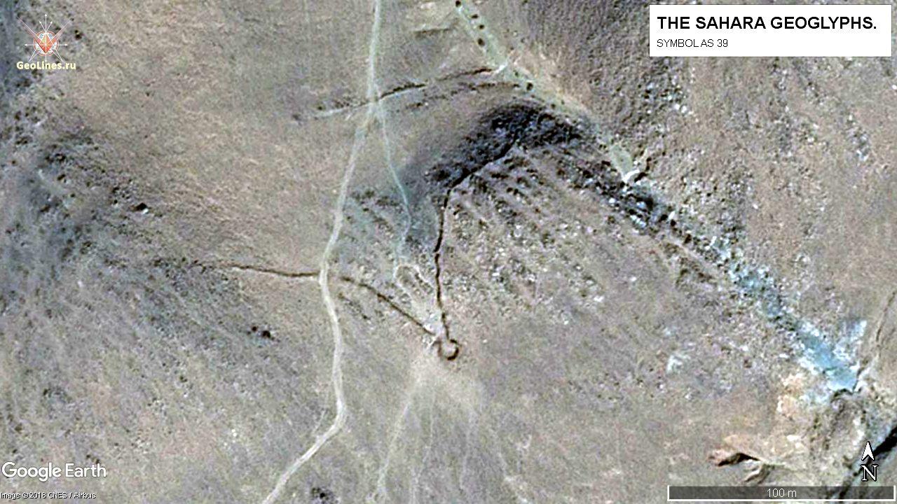 Геоглиф S 1026 Нетипичный геоглиф АS 39, расположен в западной группе