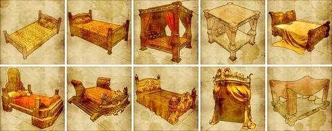 средневековые кровати