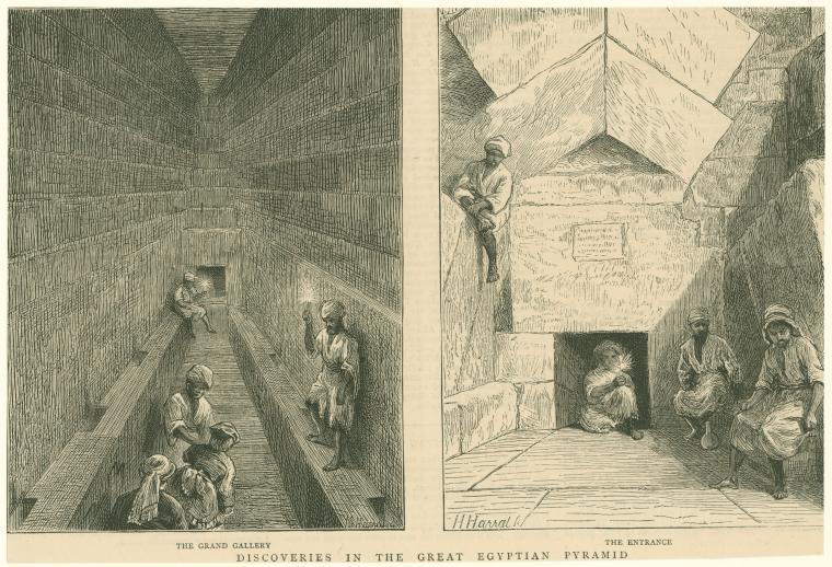 Внутри пирамиды. Рисунок 1872 года.