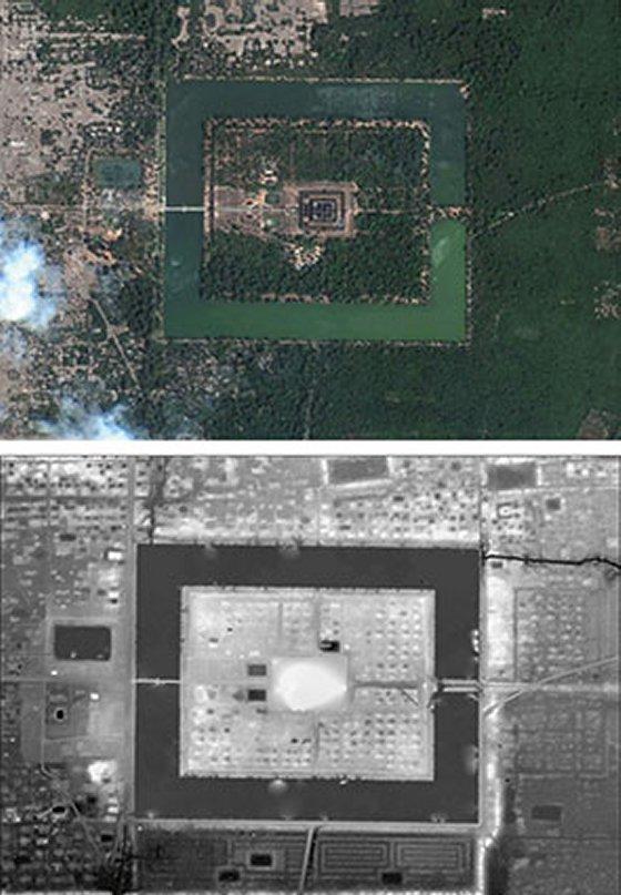 Ангкор скнирование лазер вид сверху план