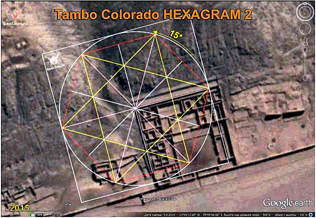 TAMBO COLORADO the orientation of the hexagram