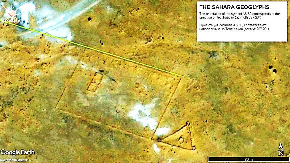геоглифы Сахары направление на Теотиуакан