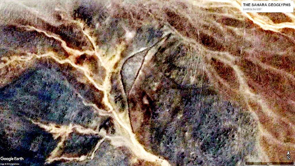 геоглифы сахары Геоглиф SU 1257. Размах лучей – более 120 м