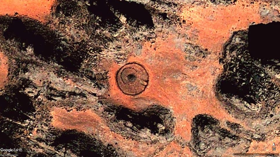 Один из геоглифов, показанных в видео