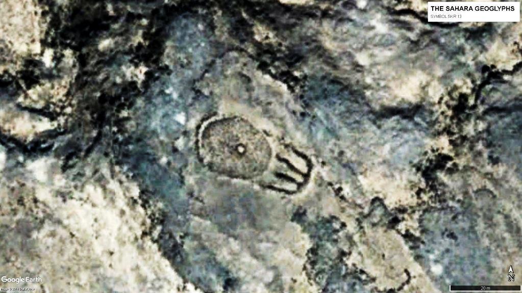 геоглиф Сахары Символ SKR 13