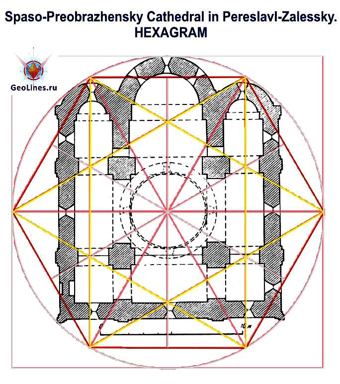 планировка собора гексаграмма