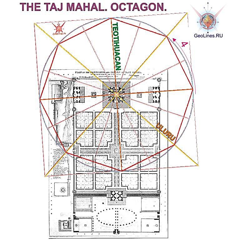 Тадж-Махал октагон