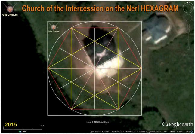 Церковь Покрова на Нерли гексаграмма