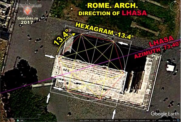 Триумфальная Арка, рядом с Колизеем