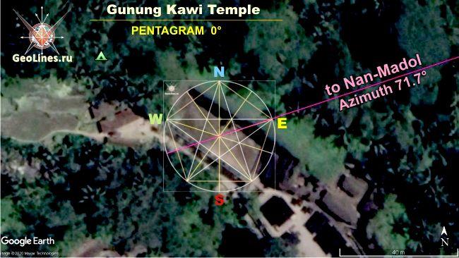 Гунунг Кави Gunung Kawi направления на Нан Мадол