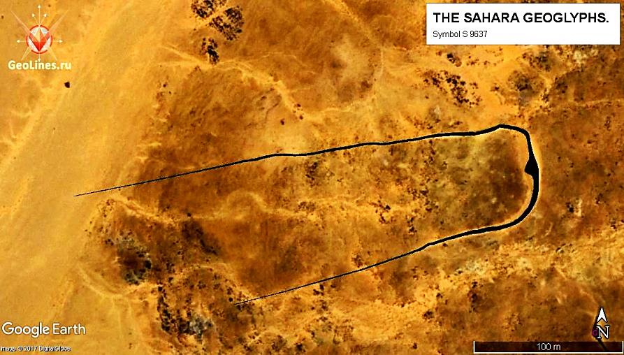 Геоглиф S 9637. Контуры обведены