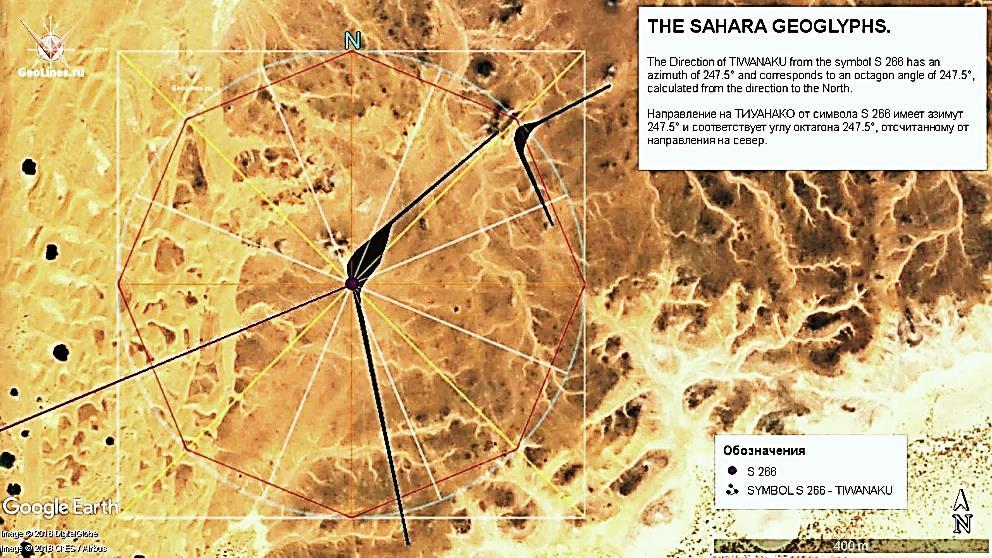 Скопление  геоглифов. Сахары