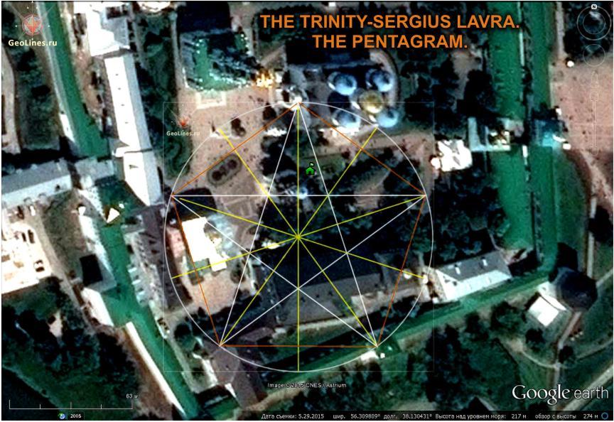 Троицкий собор в Сергиевской Лавре пентаграмма