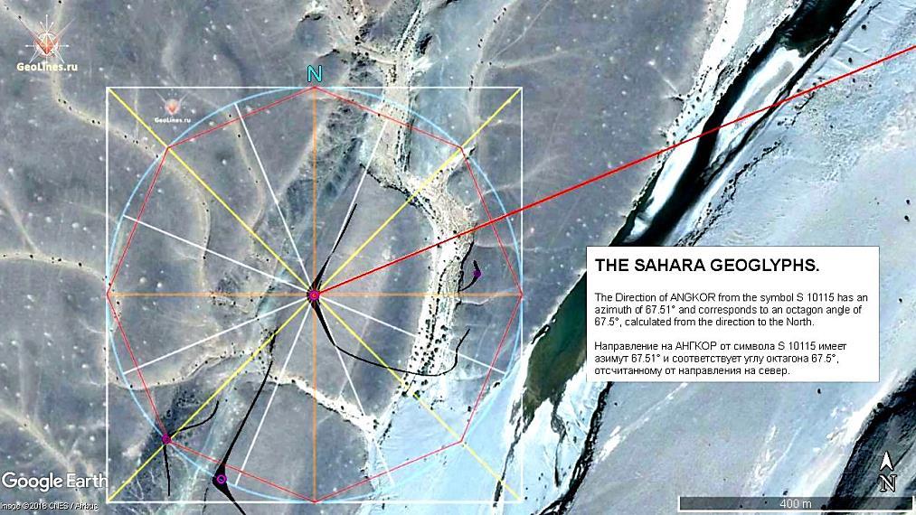 направление на геоглиф Сахары