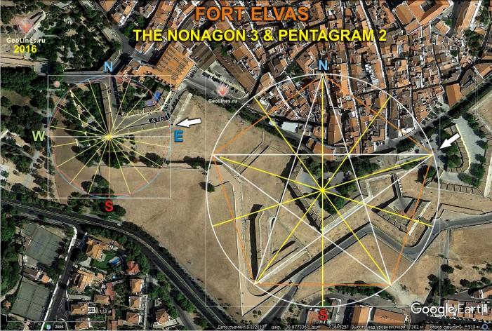 Форт Элваш пентаграмма нонагон