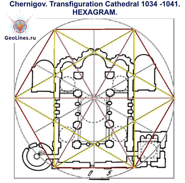 Спасо-Преображенский собор в городе Чернигов гексаграмма