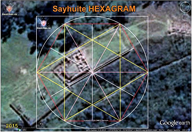 The ruins of Saywite orientation hexagram