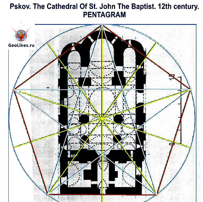 Псков Собор Рождества Иоанна Предтечи пентаграмма