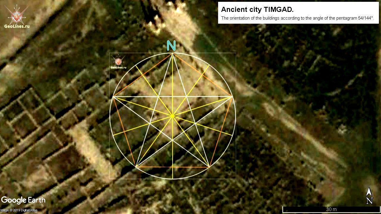 Тимгад пентаграмма