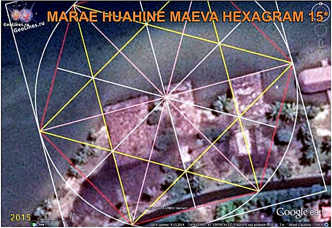 МАРАЭ МАЕВА ХУАХИНИ ТАИТИ ориентация гексаграмма