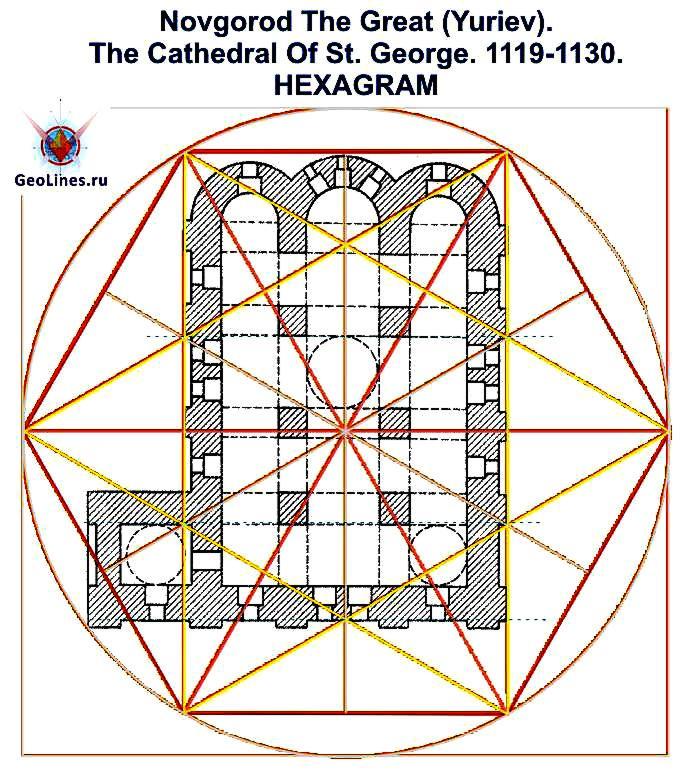 Георгиевский собор Юрьева монастыря гексаграмма 4