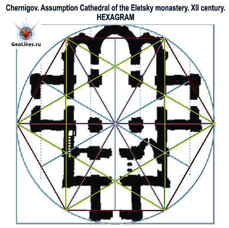 Успенский собор в Чернигове гексаграмма
