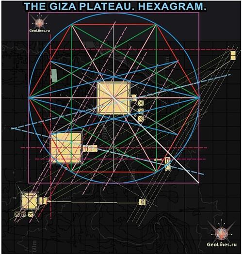 Великая пирамида, пирамида Хефрена, Хуфу, Микерина, Менкаура, храм, плато Гиза, гексаграмма, комплекс пирамид,  Сфинкс.