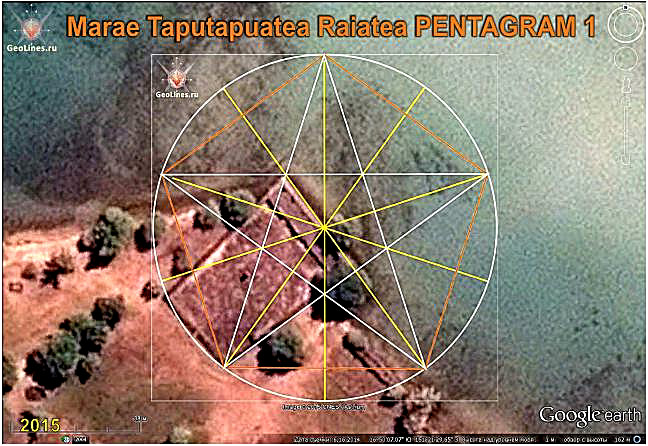 Marae taputapuatea the orientation of the pentagram