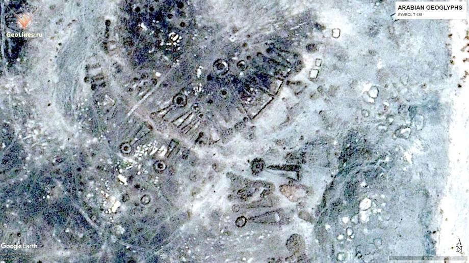 Скопление аравийских геоглифов.