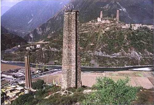 Тибетские башни Rongzhag Danba (Rongzhag Danba Ancient Towers Tibetan)