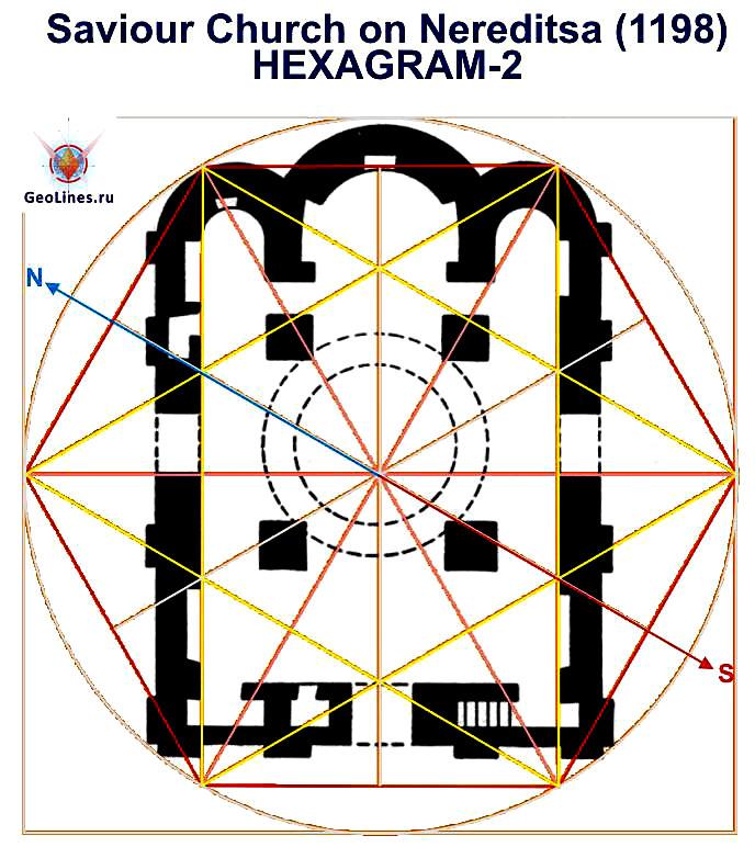 Церковь Спаса на Нередице гексамма Новгород